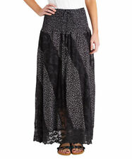 Calf Length Viscose Casual Floral Skirts for Women