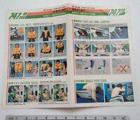 Safety Instructions Card Japan Air Lines 747 SR SUD JAL Airline Memorabilia