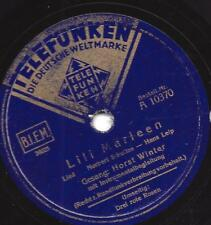 Horst inverno canta LALE ANDERSEN: Lili Marleen