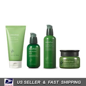 [ INNISFREE ] Green Tea Seed Serum + Essence-in-lotion + Seed Cream + Cleanser