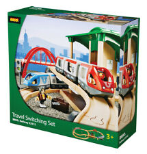 BRIO 33512 Travel Switching Set Wooden Train Railway inc 42pcs Age 3 years+