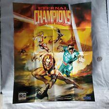 Eternal Champions / Sega Genesis CDX / Game Gear / Sega CD Promo Poster Insert