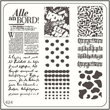 MoYou Nail Fashion Square Stamping Art Image Plate 424 Urban Style Stencil