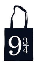 9 3/4 Bag Black Stofftasche Harry Gleis Potter Hogwarts Dobledore Muggel Magic