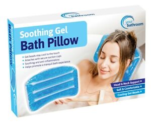 Relaxing Soft Gel Bath Pillow Waterproof Comfortable Neck Comfort Spa Cushion