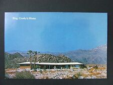 Palm Desert California CA Bing Crosby Home Vintage Color Postcard 1950s