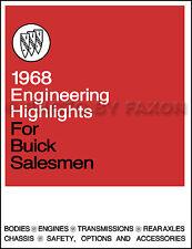 1968 Buick Engineering Features Manual Riviera LeSabre Wildcat Electra 225