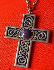 BIJOU CELTE - CELTIC JEWEL - croix pierre VIOLETTE NEUF