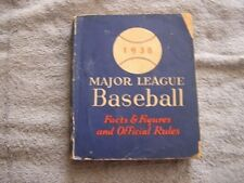 1938 Major League Baseball Facts Figures Official Rules