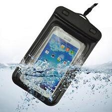 Funda HTC ONE M7 S X DESIRE IMPERMEABLE SUMERGIBLE RESISTENTE AGUA NEGRO NEGRA
