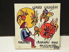GINETTE GIRARDIER Nouvelles chansons pour Marina EP1011 Llivre disque