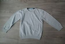 Pull gris clair col V NKY taille 8 ans, tbe !
