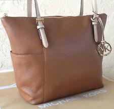 NWT- Michael Kors Jet Set East West Tote/Shoulder Bag Luggage Brown Leather