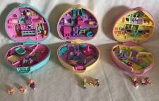 3 Vintage Polly Pocket Strollin' Baby Perfect Playroom Nursery Fun ALL COMPLETE