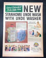 Life Magazine Ad STANHOME UNDE WASH reverse U.S. Brewers Foundation 1951 Ad