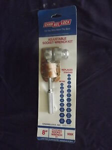 "Channel Lock Adjustable Socket Wrench Kit 8""."
