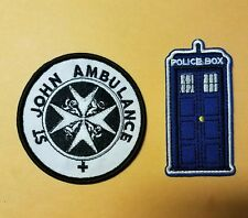 Doctor Who Patch Set (2)  TARDIS & ST John Ambulance