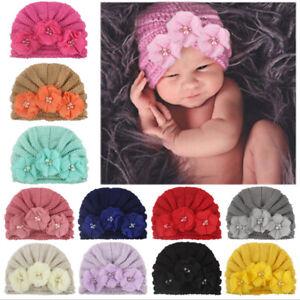 Baby Infant Hat Floral Turban Cap Newborn Girls Head Wrap Beanie Lovely Soft^qi