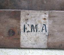 EMA, état major des armées, ancienne caisse en bois, militaire, WW1, WW2, E M A