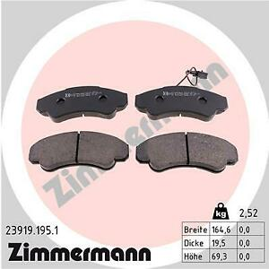 Front Brake Pads Fiat Ducato 77362216
