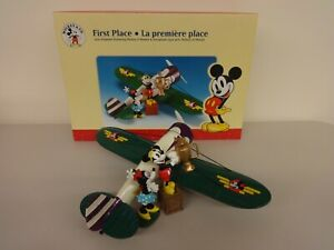 "Ertl Bank Mickey & Minnie ""First Place"" 1930 Travel Air Mystery Airplane w/ Box"