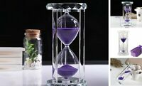 30/60 Minutes Sand Glass Hourglass Timer Clock Kitchen Home Office Decor Items