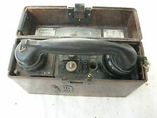 Feldtelefon Feldfernsprecher Bakelit bakelite field phone