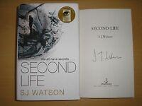 S.J. WATSON - SECOND LIFE  1st/1st  HB/DJ  2015  SIGNED