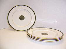 "Royal Doulton Oxford Green ENGLAND 4 Accent Salad Dessert Plates (8"") T.C.1191"