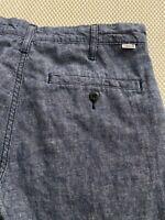 Levi's 32 x 30 511 Slim Fit Linen Blend Blue Chambray Chino Pants