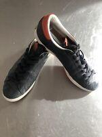 Men's Rare Black Adidas Oki-Ni Rod Laver Trainers Size 43 9