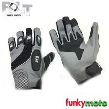 Gants noirs en matière respirante pour motocyclette Homme