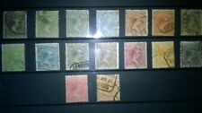 SPAIN 1889, FULL SET, KING ALFONSO XIII, USED.
