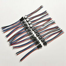 20pcs Male&Female 4 Pins Connector With Wire for 5050/3528 RGB Led Driver/Strip