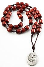 Saint St Anthony Chaplet Rosary for Prayer with Cherry Wood Beads and Medal, 9 I