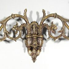 """Antique French Piano Sconce, Dragons, Grotesque and Torch, Signed """"Pinet"""""""