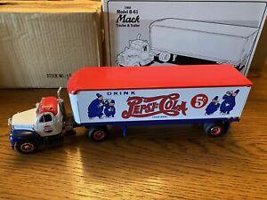 "First Gear Mack-B-Model Tractor Trailer ""Pepsi Cola Cops "" , 1/34 Scale"