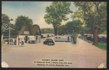 Postcard NASHVILLE Tennessee/TN  Tipton's Trailer Park & Sinclair Gas Station