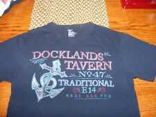 GAP DOCKLANDS TAVERN NO. 47 TRADITIONAL E14 REAL ALE PUB T SHIRT MENS SIZE SMALL