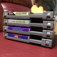 4 Game Lot: Castlevania 2 II, Crystalis, Yo! Noid, Metal Gear / Nintendo NES