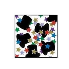 Multi-Color Fanci-Fetti Top Hats & Mini Stars Confetti