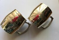 EPNS Beer Steins x 2 Silver Collectible Movie Set Prop electro plated nickel