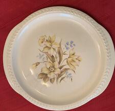 Universal Pottery, Cambridge Ohio, 11 5/8 Inch Laurella Floral Platter ~USA MADE