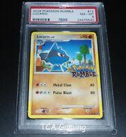 PSA 8 NM-MINT Lucario 12/16 RUMBLE 2009 HOLO RARE Pokemon Card