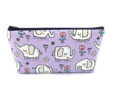 Purple Elephant Kids / Adults Cosmetic Bag, Zip Pouch, Makeup Bag, Pencil Case
