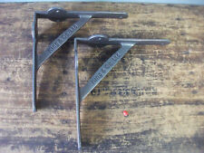 """pair Shelf Brackets Gallows INDUSTRIAL STYLE cast IRON 8""""( 210mm) KING & Co"""