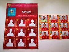 SHEET + SPAIN UEFA EURO 2020 UPDATE 9 STICKERS ESPAÑA PANINI.PEDRI. JUGON N°172.