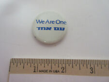 Authentic We Are One tnx du Badge, Button, Pin, Pinback, Trademarked,