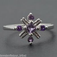 Solid 925 Sterling Silver Amethyst Natural Gemstone Ring Womens  Jewelry AU