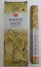 Hem White Sage Incense Bulk 6 x 20 Stick Boxes, 120 Sticks (Wicca Pagan)